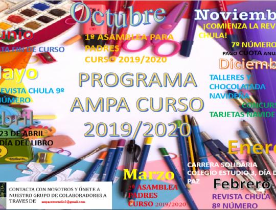 Programación del AMPA 2019-2020.