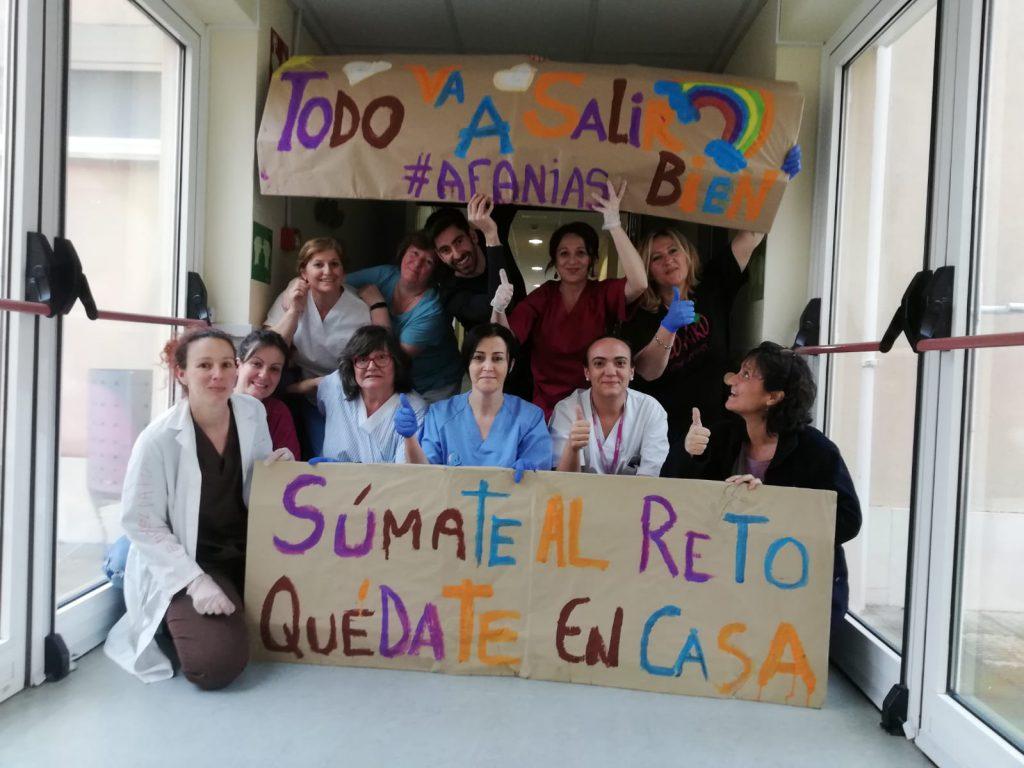 En la Residencia AFANIAS Torrelaguna estamos todos a tope.